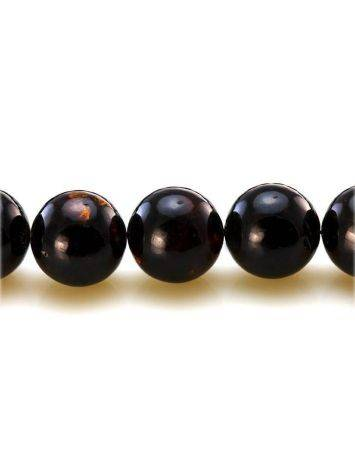 33 Black Amber Islamic Prayer Beads With Tassel, image , picture 4