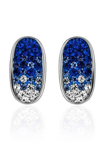 Blue And White Crystal Earrings The Eclat, image , picture 4