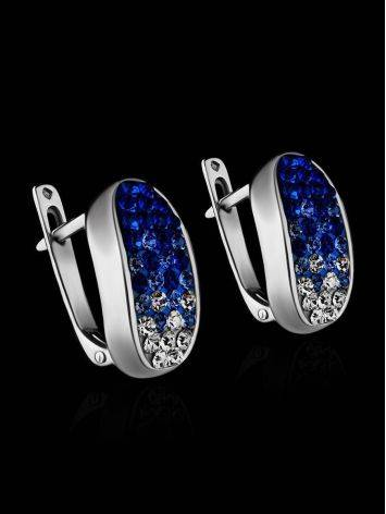 Blue And White Crystal Earrings The Eclat, image , picture 2