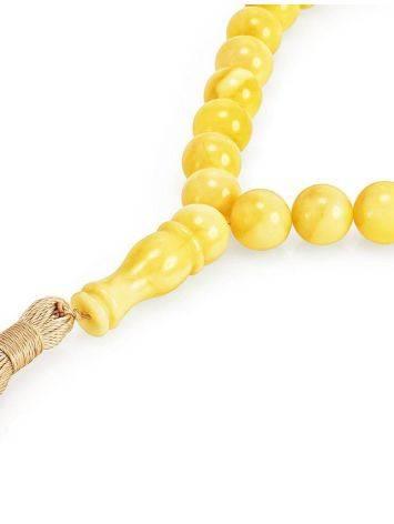 33 Honey Amber Muslim Prayer Beads With Tassel, image , picture 2