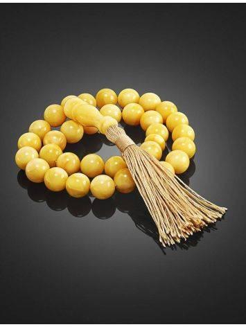 33 Honey Amber Muslim Prayer Beads With Tassel, image , picture 3
