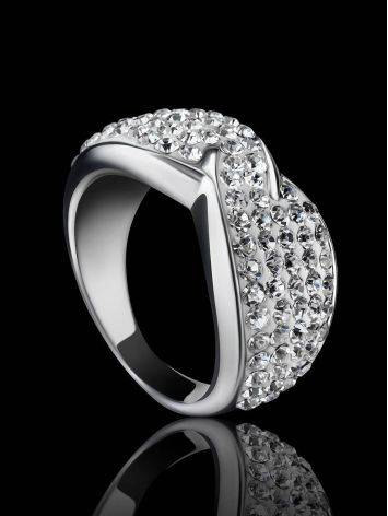 White Crystal Band Ring The Eclat, Ring Size: 5.5 / 16, image , picture 2