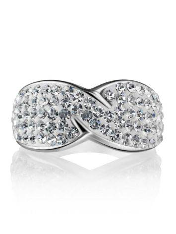 White Crystal Band Ring The Eclat, Ring Size: 5.5 / 16, image , picture 3