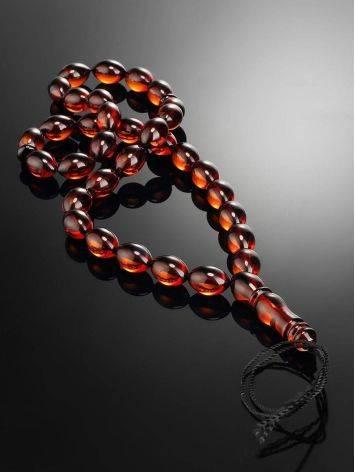 33 Cherry Amber Muslim Prayer Beads, image , picture 2