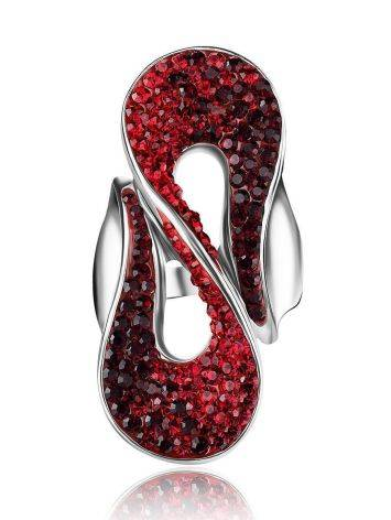 Red Crystal Cocktail Ring The Eclat, Ring Size: 8 / 18, image , picture 4