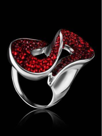 Red Crystal Cocktail Ring The Eclat, Ring Size: 8 / 18, image , picture 2