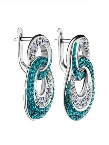 Green And White Crystal Earrings The Eclat, image , picture 4