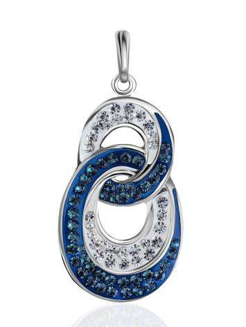 Sterling Silver Pendant With Blue And White Crystals The Eclat, image