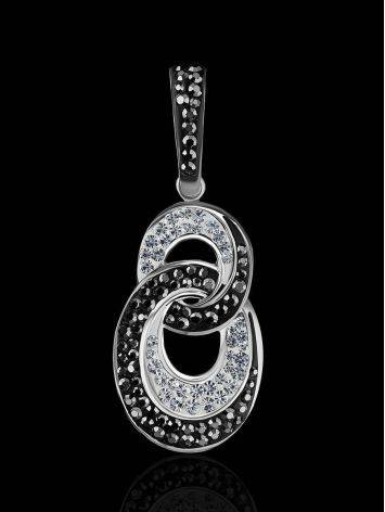 Black And White Crystal Pendant The Eclat, image , picture 2