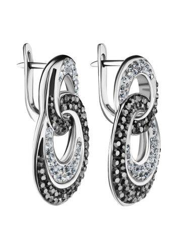 Crystal Encrusted Earrings In Sterling Silver The Eclat, image , picture 4
