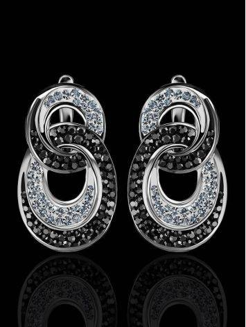 Crystal Encrusted Earrings In Sterling Silver The Eclat, image , picture 2