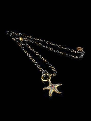 Gold Plated Necklace With Star Shaped Pendant, image , picture 5