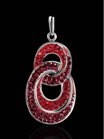Red Crystal Encrusted Pendant The Eclat, image , picture 2
