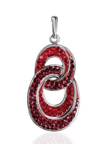 Red Crystal Encrusted Pendant The Eclat, image