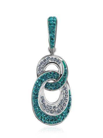 Green And White Crystal Pendant The Eclat, image