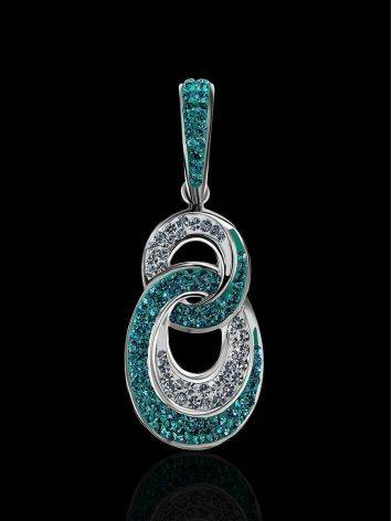 Green And White Crystal Pendant The Eclat, image , picture 2