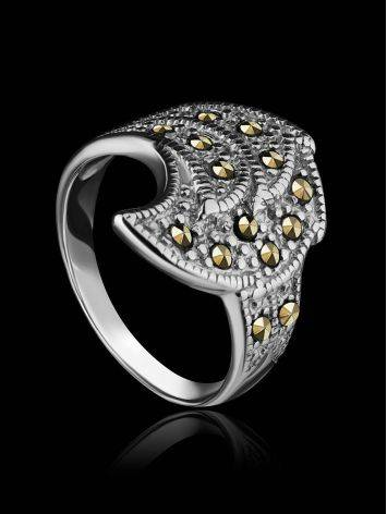 Sterling Silver Ring With Marcasites The Lace, Ring Size: 6.5 / 17, image , picture 2