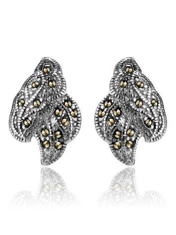 Refined Silver Earrings With Marcasites The Lace, image , picture 3