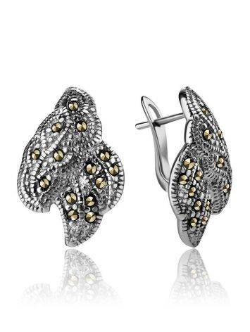 Refined Silver Earrings With Marcasites The Lace, image