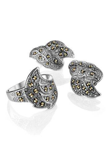 Refined Silver Earrings With Marcasites The Lace, image , picture 4