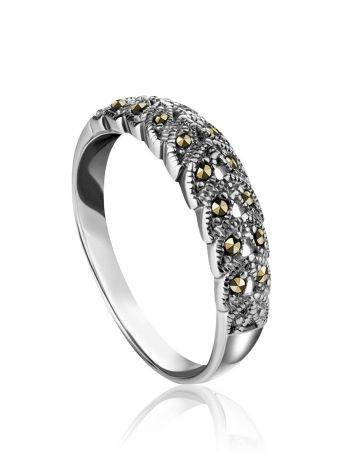 Sterling Silver Ring With Marcasites The Lace, Ring Size: 8.5 / 18.5, image