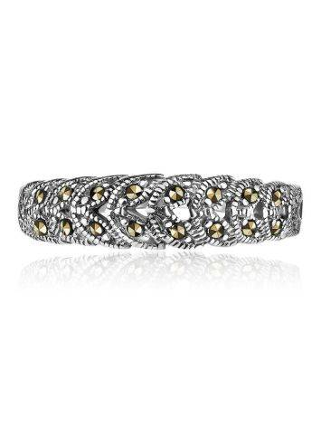 Sterling Silver Ring With Marcasites The Lace, Ring Size: 8.5 / 18.5, image , picture 3