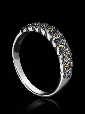 Sterling Silver Ring With Marcasites The Lace, Ring Size: 8.5 / 18.5, image , picture 2