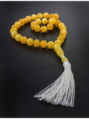 33 Honey Amber Islamic Rosary With Tassel, image , picture 2