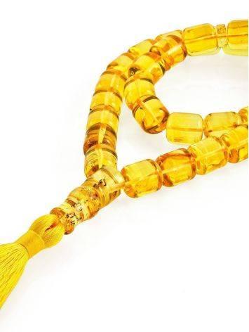 Lemon Amber Islamic Prayer Beads With Tassel, image