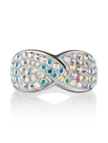 Chameleon Colored Crystal Ring In Sterling Silver The Eclat, Ring Size: 5 / 15.5, image , picture 3