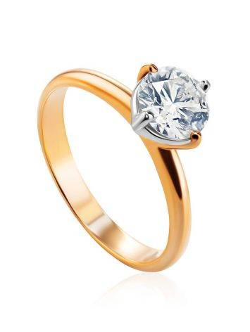 Solitaire Diamond Ring In Gold, Ring Size: 9 / 19, image