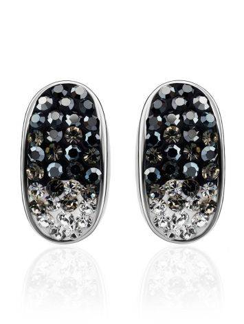 Sterling Silver Earrings With Two Toned Crystals The Eclat, image , picture 3