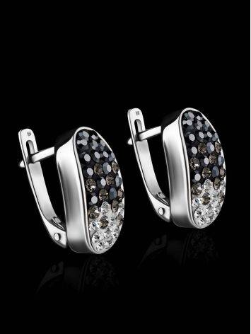 Sterling Silver Earrings With Two Toned Crystals The Eclat, image , picture 2