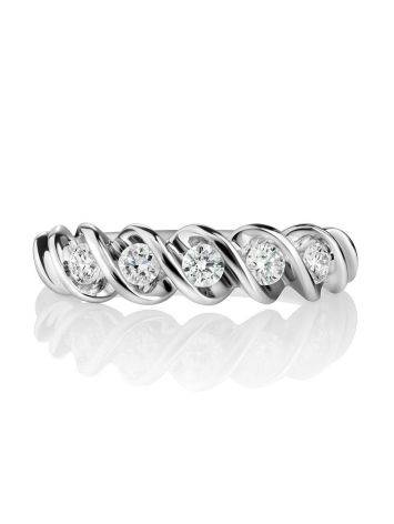 White Gold Diamond Ring, Ring Size: 7 / 17.5, image , picture 3