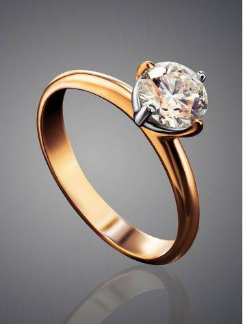 Solitaire Diamond Ring In Gold, Ring Size: 9 / 19, image , picture 2