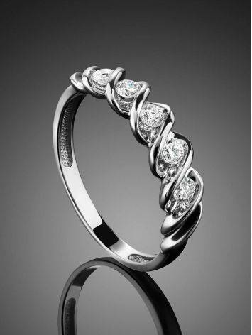 White Gold Diamond Ring, Ring Size: 7 / 17.5, image , picture 2