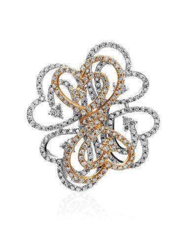 Filigree Golden Diamond Pendant, image