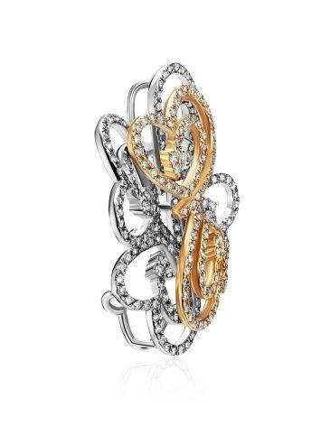 Filigree Golden Diamond Pendant, image , picture 3