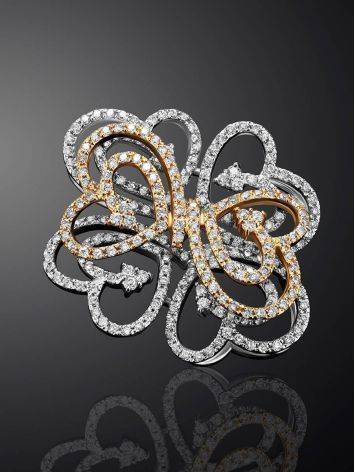 Filigree Golden Diamond Pendant, image , picture 2