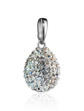 Silver Drop Pendant With White Crystals The Eclat, image , picture 3