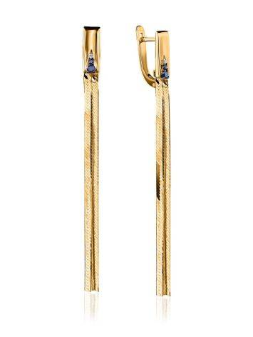 Golden Chain Dangles With Sapphires And Diamonds, image