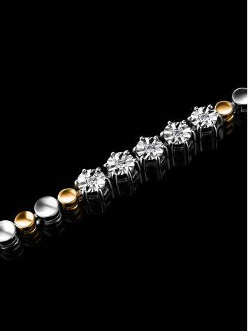 Two Toned Golden Bracelet With Diamonds, image , picture 2