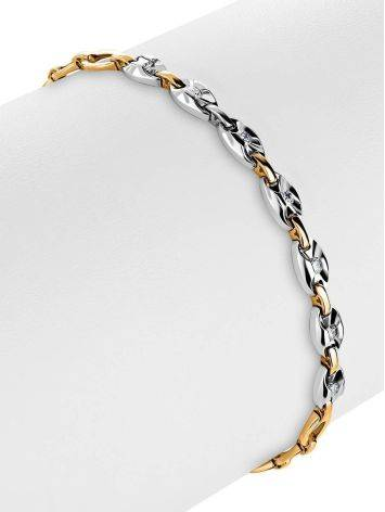 Golden Chain Bracelet With Diamonds, image , picture 3