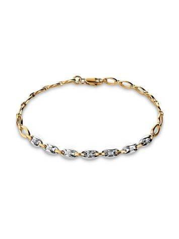 Golden Chain Bracelet With Diamonds, image