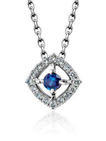 White Gold Pendant With Sapphire And Diamonds The Mermaid, image
