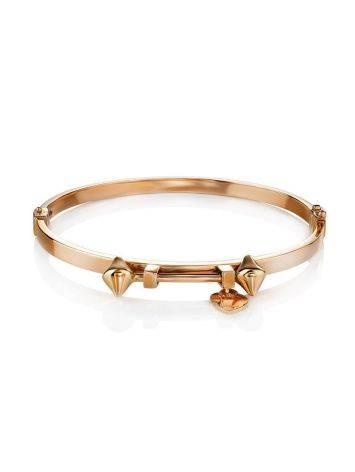 Golden Bangle Bracelet With Dangles, image