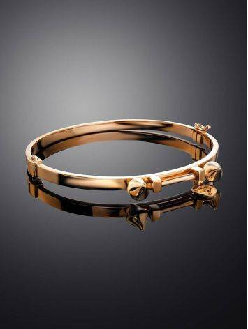 Golden Bangle Bracelet With Dangles, image , picture 2