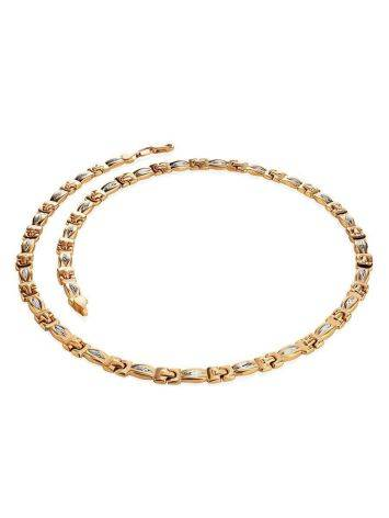 Two Toned Golden Necklace, image , picture 3