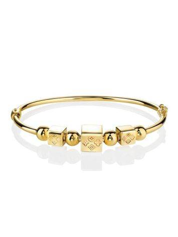 Yellow Gold Bangle Bracelet, image , picture 3