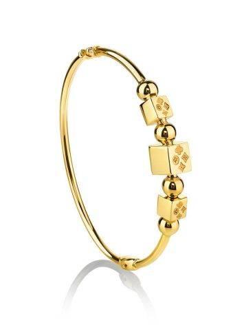 Yellow Gold Bangle Bracelet, image